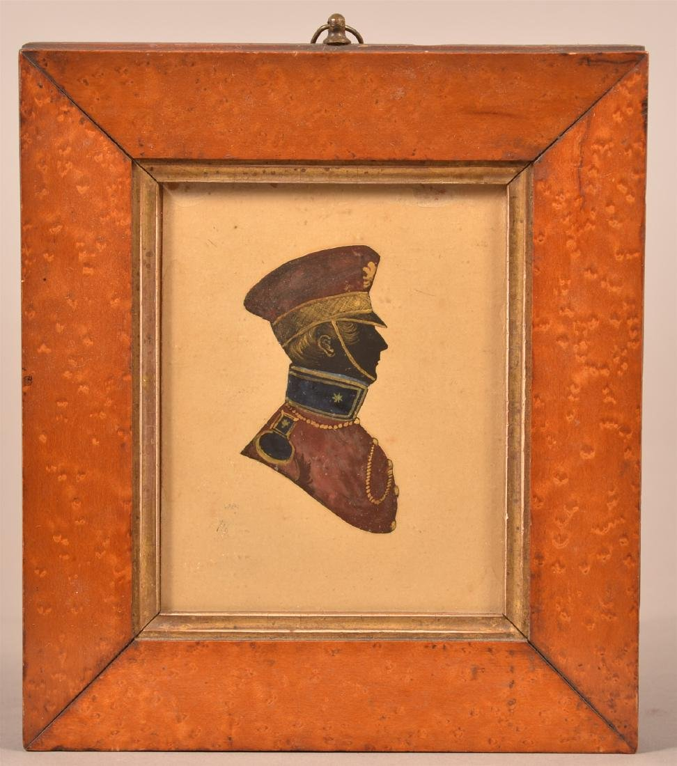 19th Century Hand Painted Silhouette.