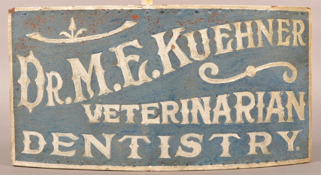Dr. M.E. KUEHNER VETERINARIAN DENTISTRY Sign.