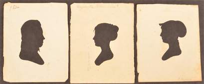 Three Peale's Museum Hollow Cut Silhouettes.