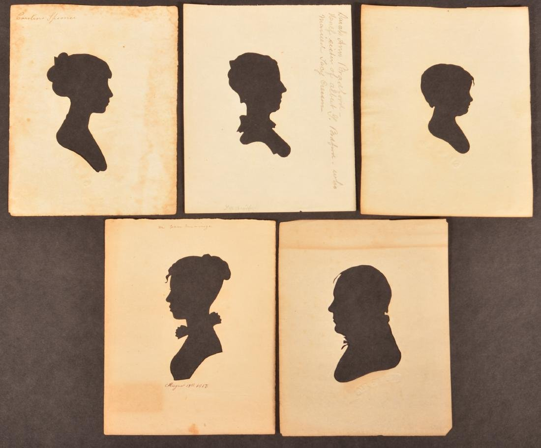 Five Early 19th Century Hollow Cut Silhouettes.