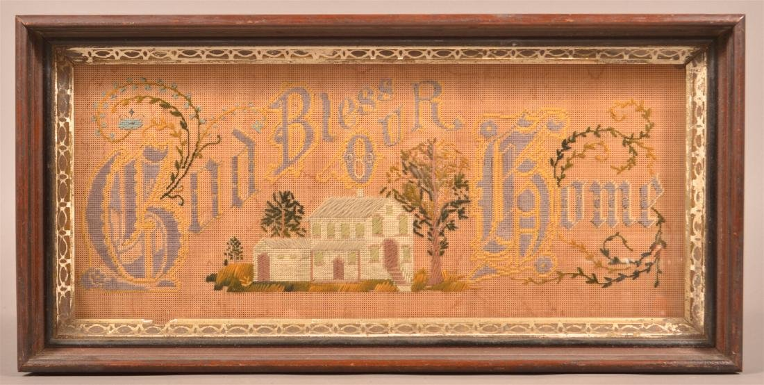 Victorian Yarn Needlework on Punched Paper.