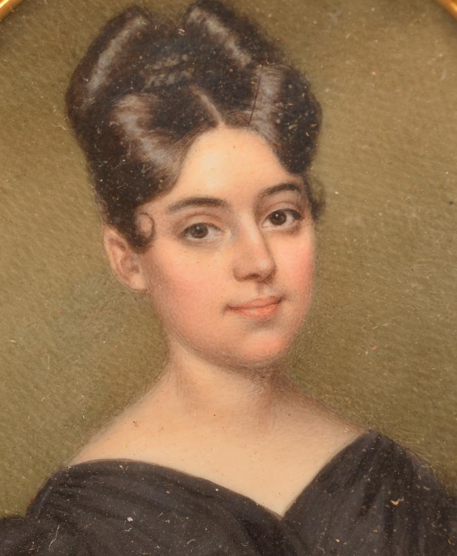 Miniature Portrait Painting of a Young Lady. - 2