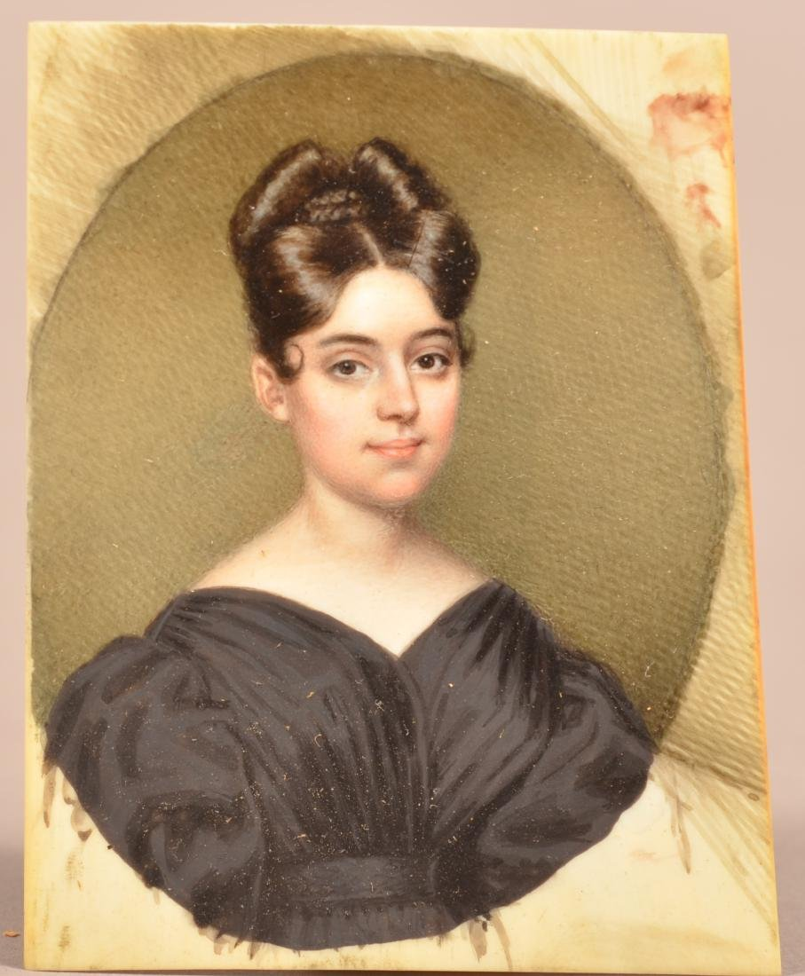 Miniature Portrait Painting of a Young Lady. - 3