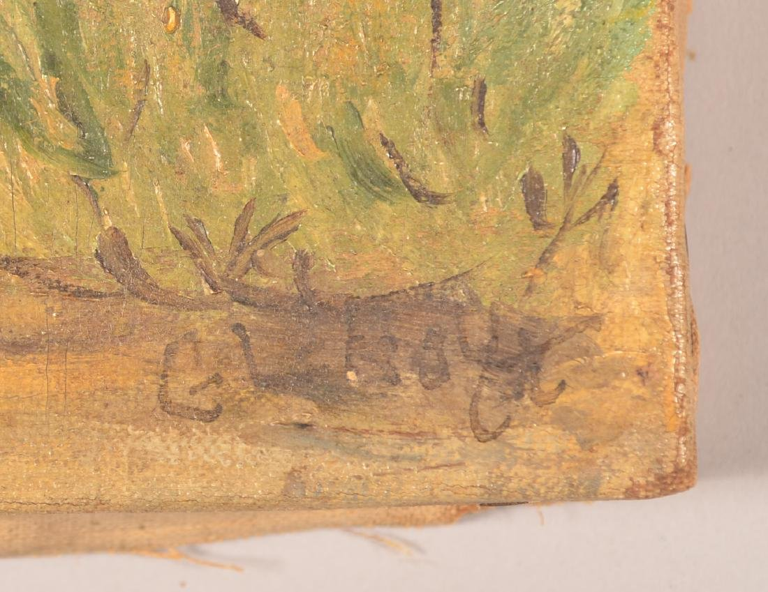 G.L. Hoyt Oil on Canvas Hunting Scene Painting. - 2