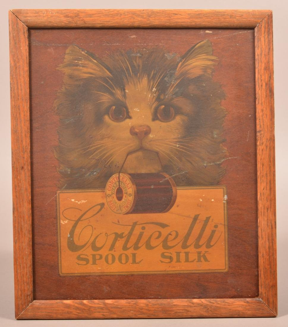 Advertising Sewing Board for Corticelli Spool Silk.