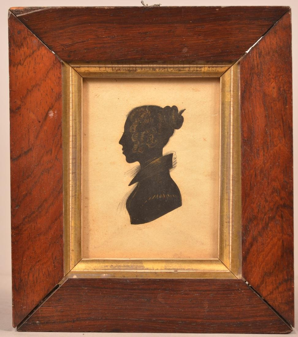 Early 19th Century Silhouette of a Woman.