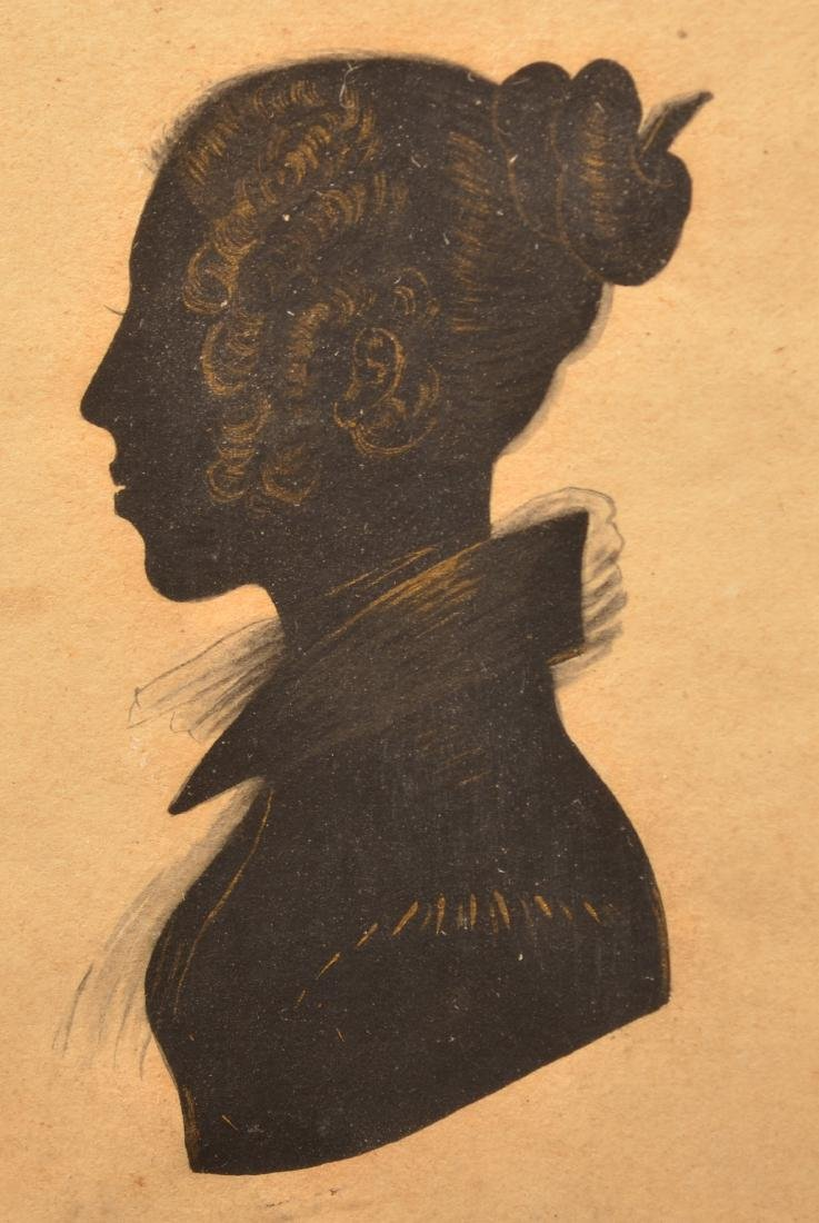 Early 19th Century Silhouette of a Woman. - 2