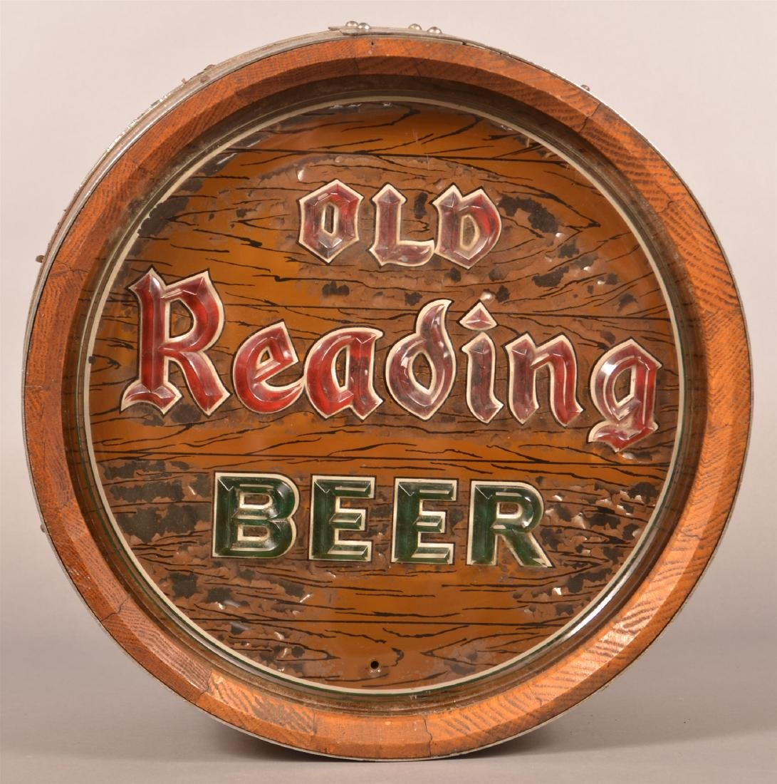 """OLD READING BEER"" Advertising Barrel Light. - 2"