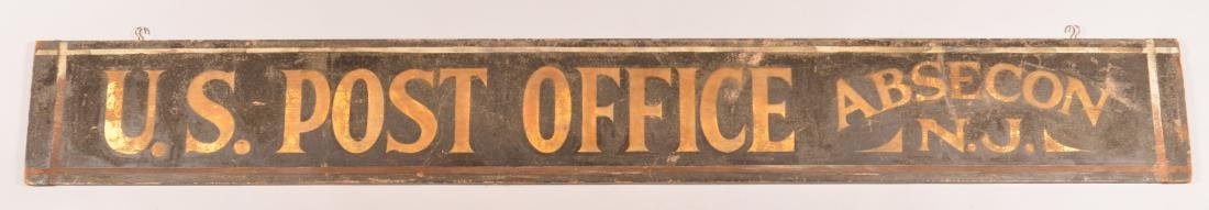 """U.S. POST OFFICE, ABSECON, NJ"" Trade Sign."