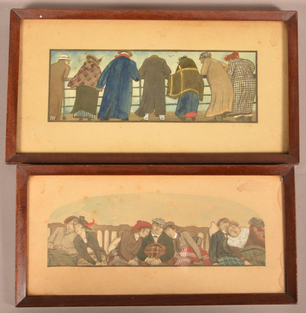 Two Early 20th Century Hand Colored Prints.