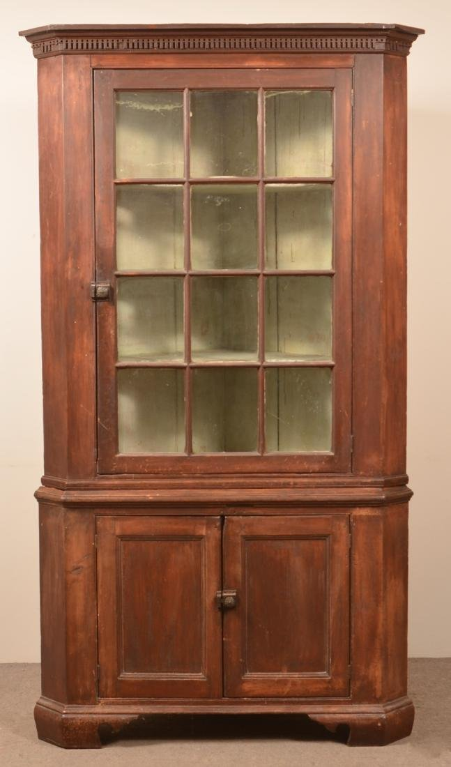 PA Chippendale Softwood Corner Cupboard.