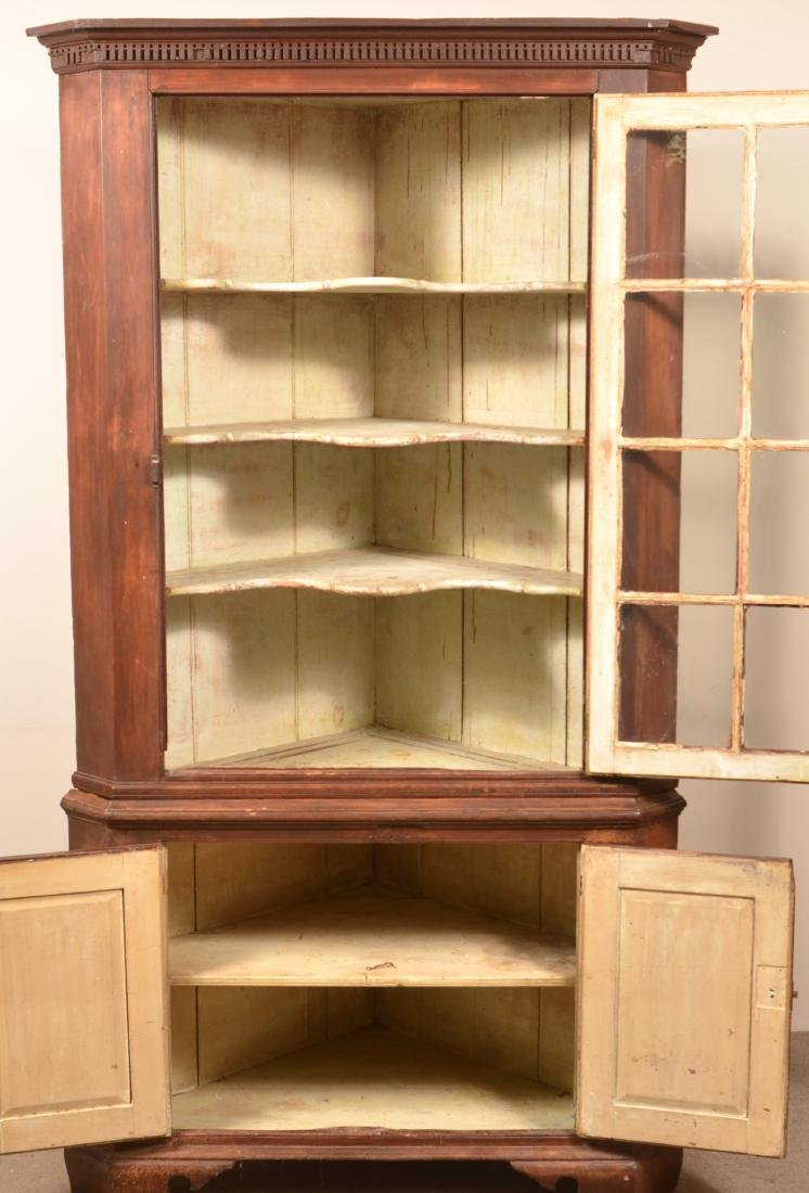 PA Chippendale Softwood Corner Cupboard. - 2