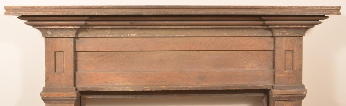 Grain Painted Softwood Architectural Mantel. - 2