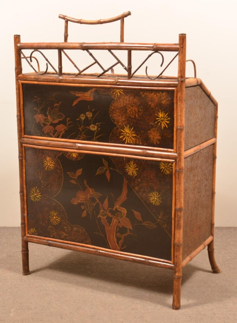 Antique Bamboo Ladies Knee-hole Desk. - 6