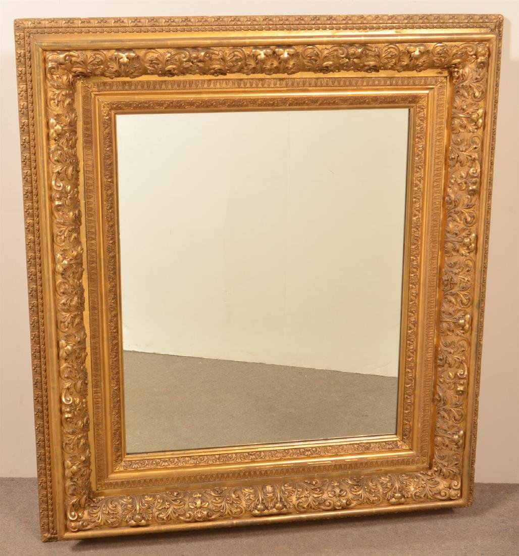 Ornate 19th Century Gilt Molded Frame Mirror.