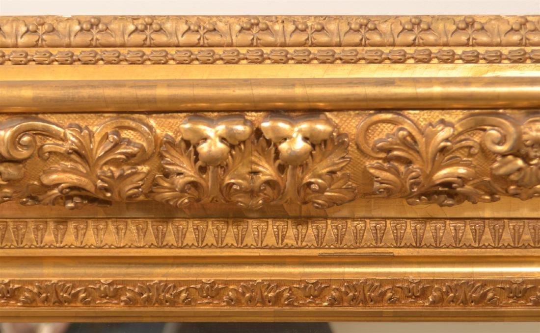 Ornate 19th Century Gilt Molded Frame Mirror. - 2