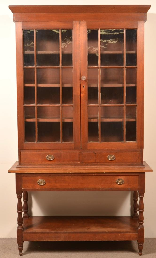 American Federal Two Part Apothecary Cabinet.