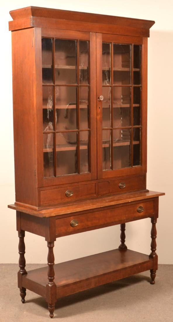 American Federal Two Part Apothecary Cabinet. - 2
