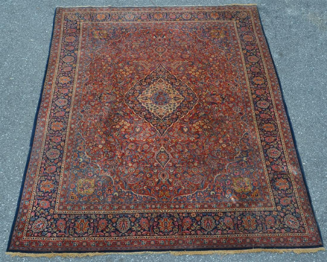 Antique Persian Center Medallion Room Size Rug.