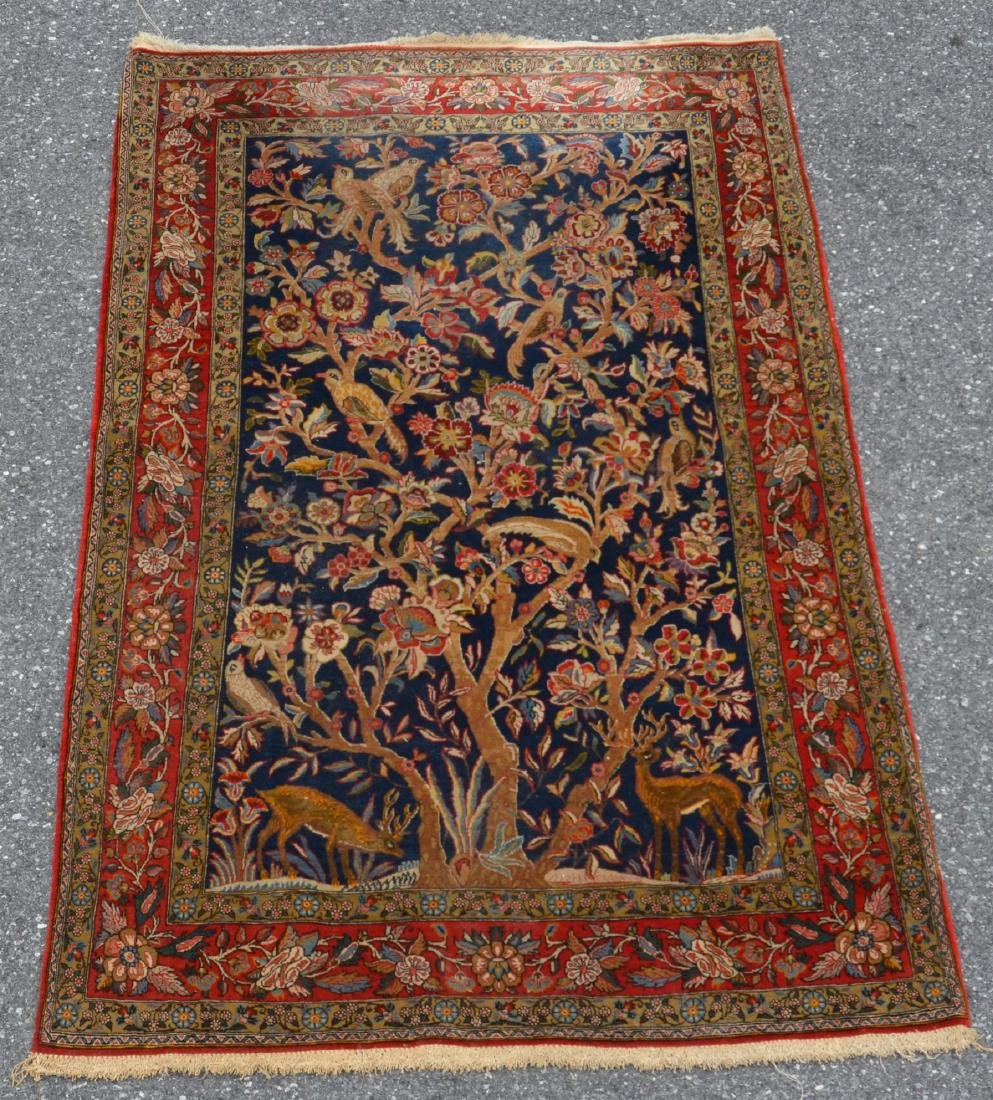 Antique Persian Tree of Life Pattern Area Rug.