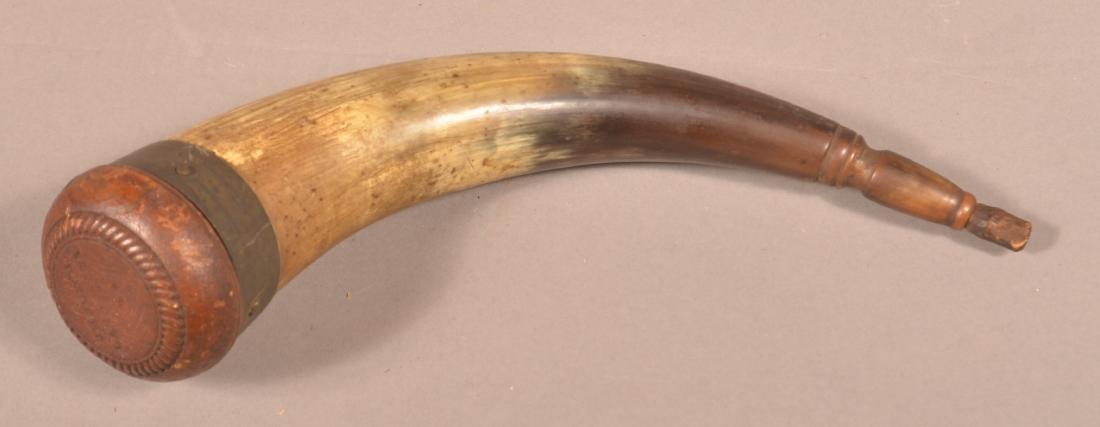 "Powder Horn Stamped ""J.H. Smith, Lancaster, PA""."
