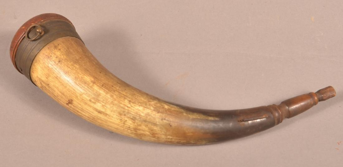 "Powder Horn Stamped ""J.H. Smith, Lancaster, PA"". - 3"