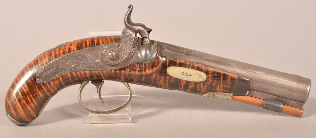 Rare Jacob Fordney, Lancaster Percussion Pistol.