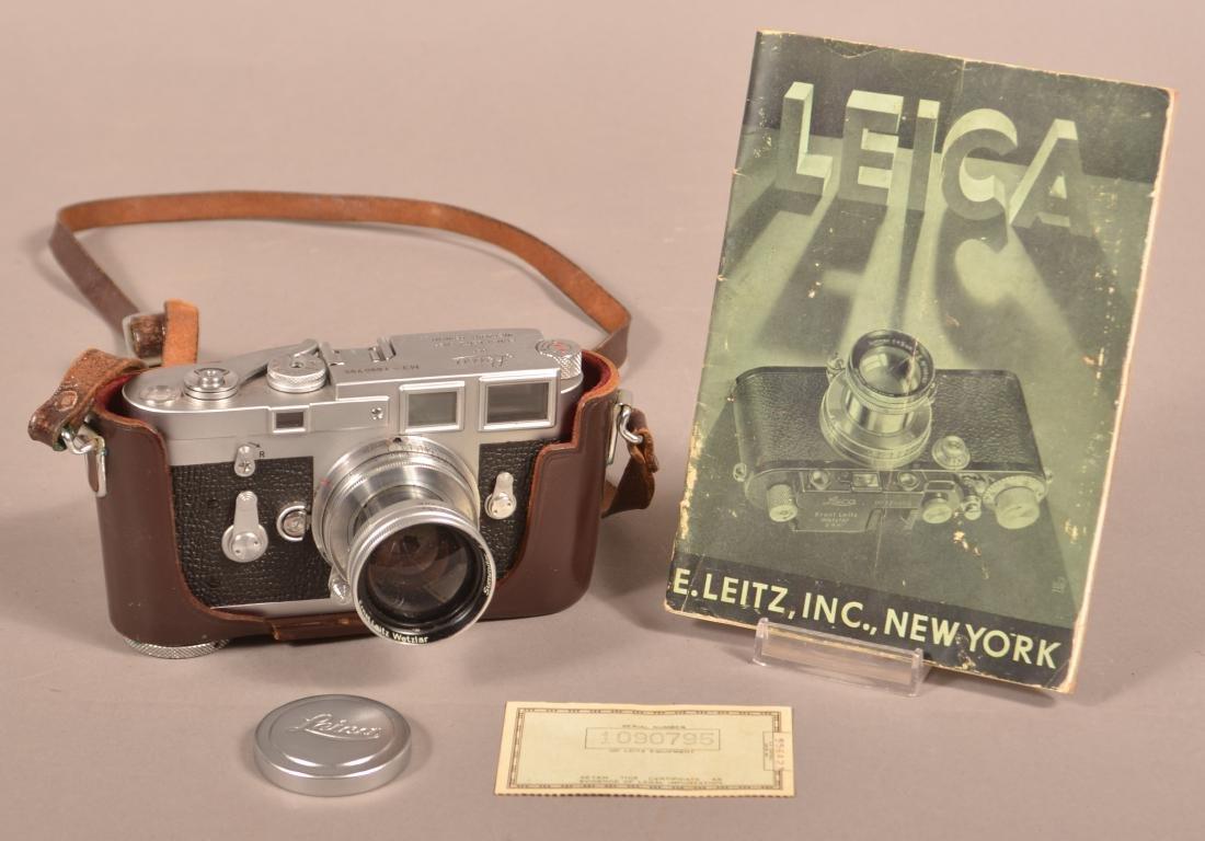 1963 Leica M3 Camera, SN-1090795.
