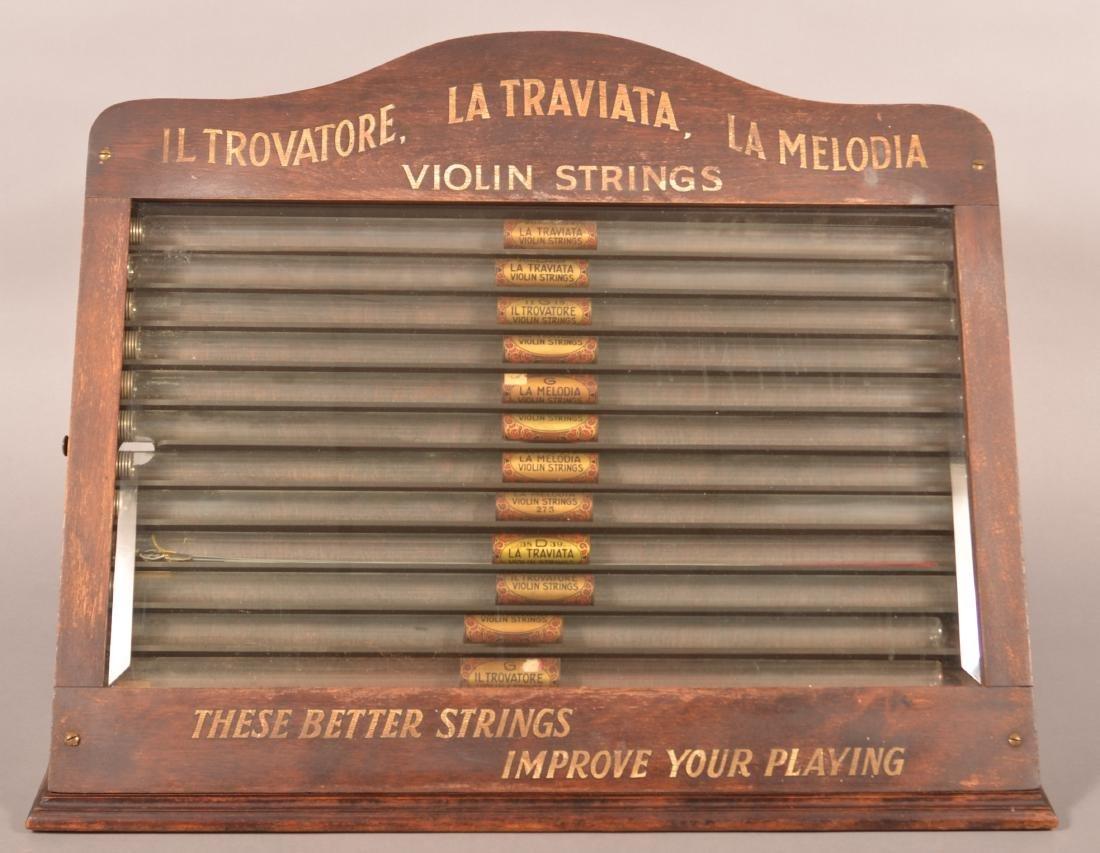 Antique/Vintage Violin Strings Store Display.
