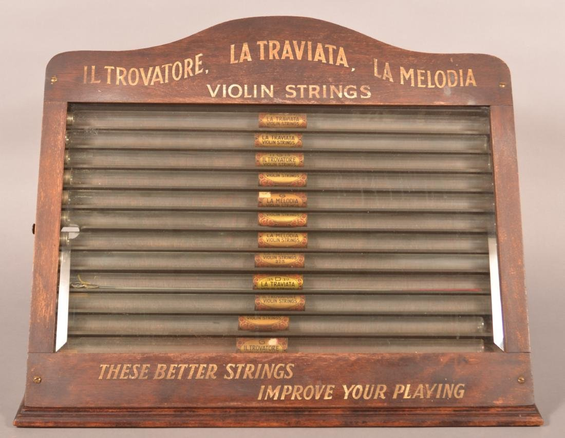 Antique/Vintage Violin Strings Store Display.