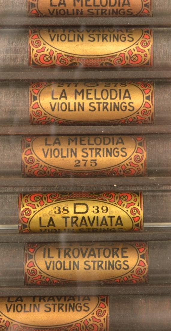 Antique/Vintage Violin Strings Store Display. - 2