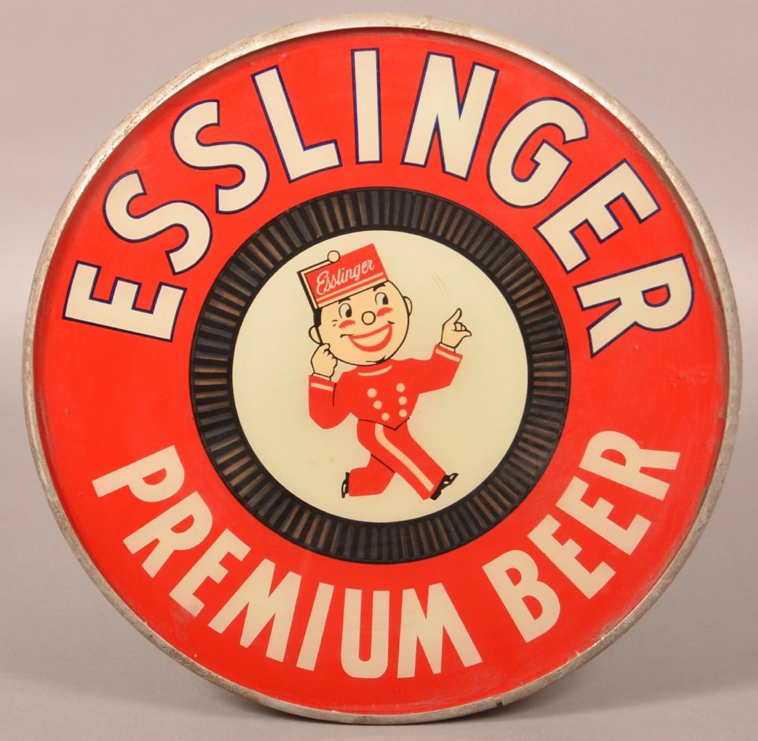 Esslinger Premium Beer Light-Up Advertising Sign.