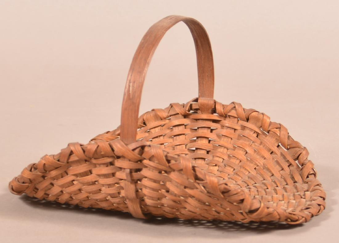 Antique Oak Splint flower/Herb Gathering Basket.