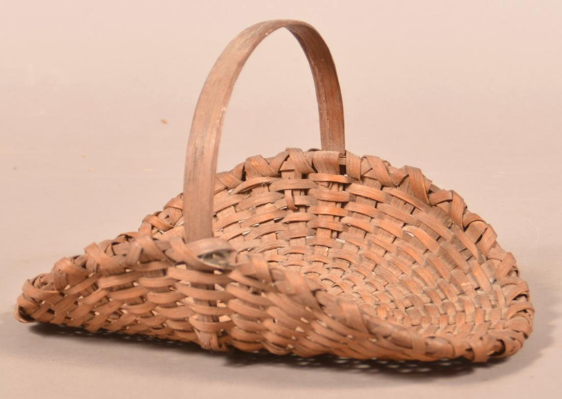 Antique Oak Splint flower/Herb Gathering Basket. - 2