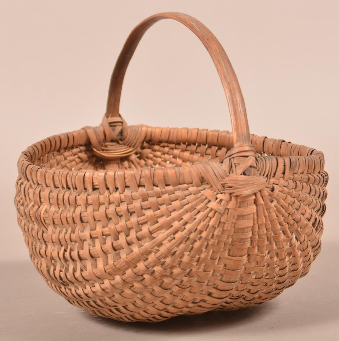 Woven Oak Splint Market Basket .