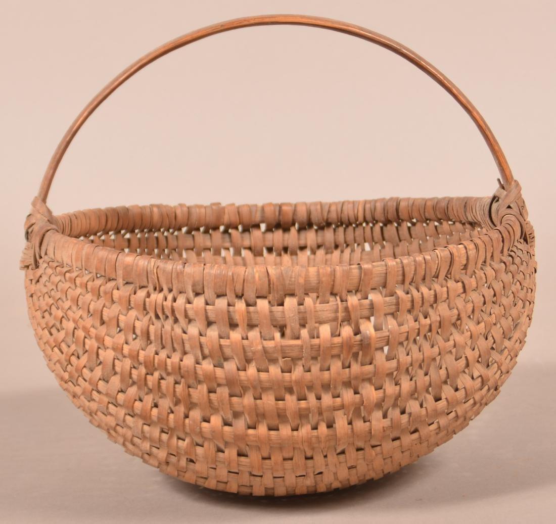Woven Oak Splint Market Basket . - 2