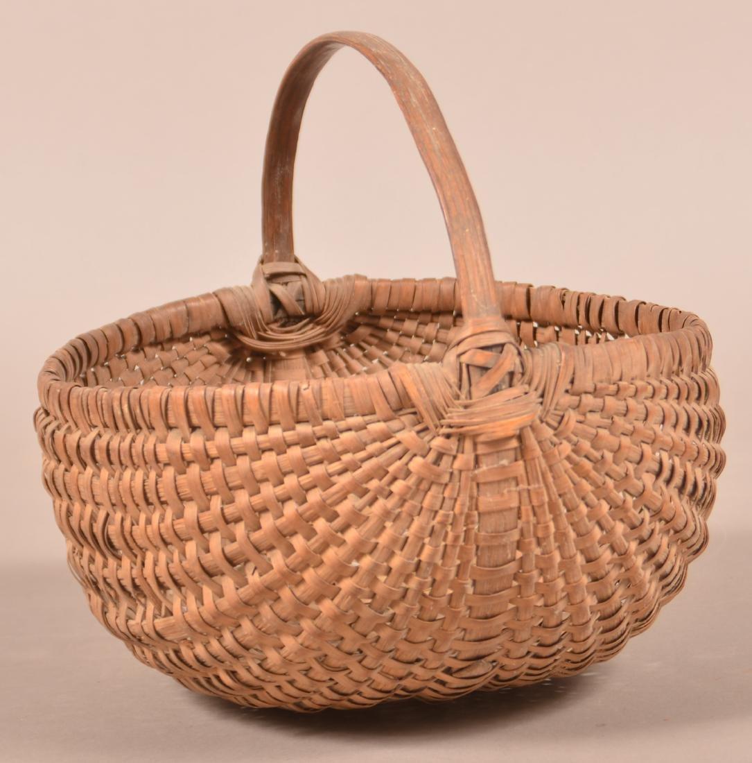 Woven Oak Splint Market Basket . - 3