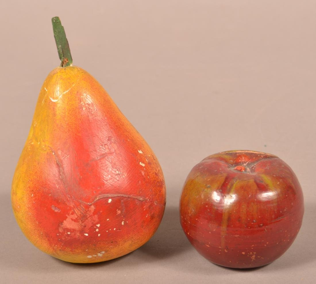 Two Antique Cold Painted Fruit Form Still Banks. - 2