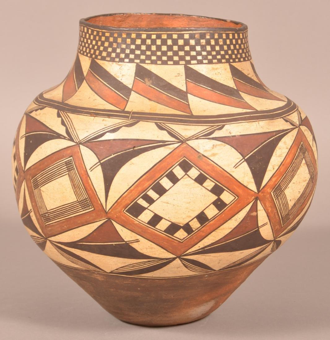 Very Fine Acoma Polychrome Pottery Olla. - 2