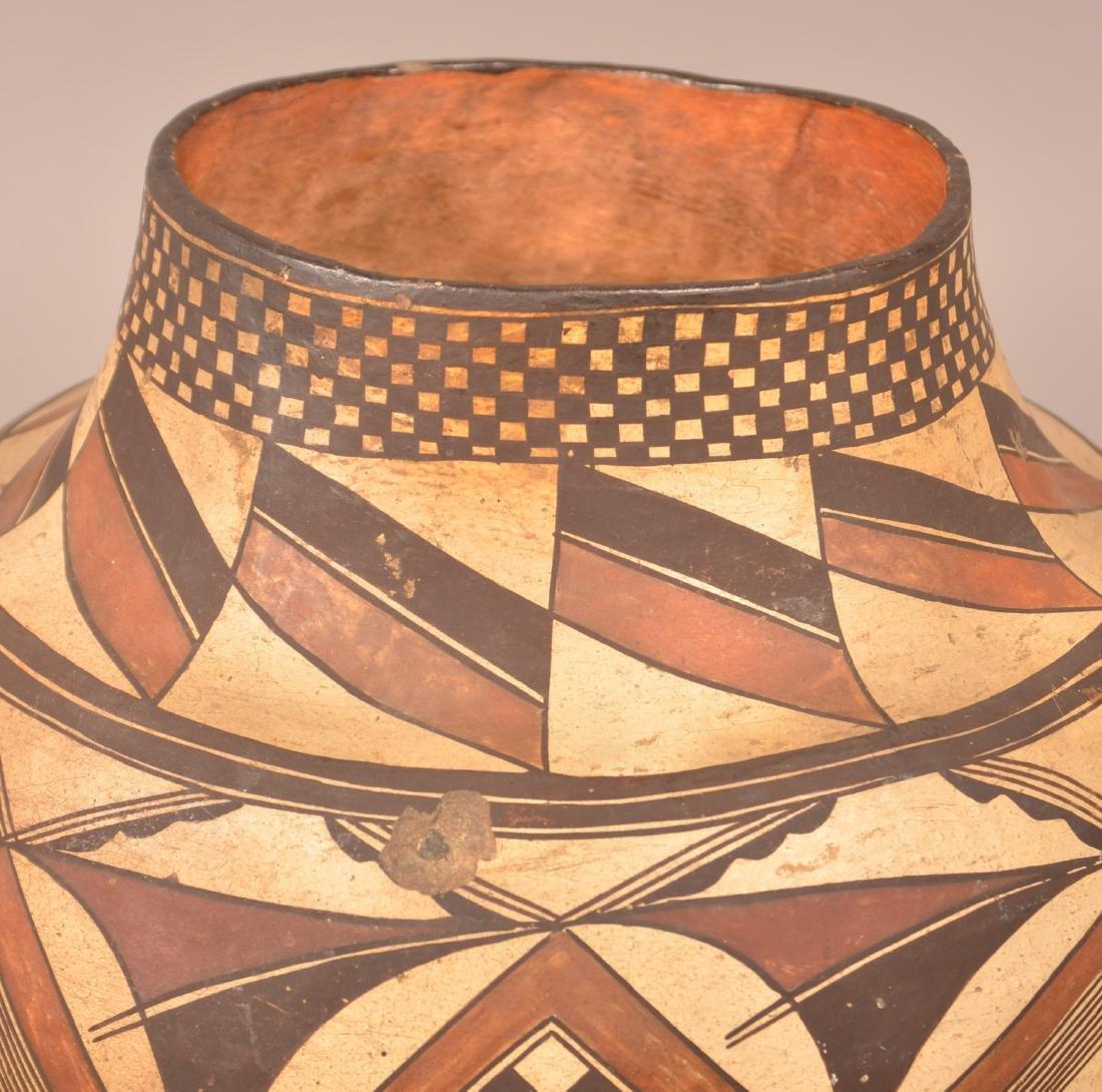 Very Fine Acoma Polychrome Pottery Olla. - 4