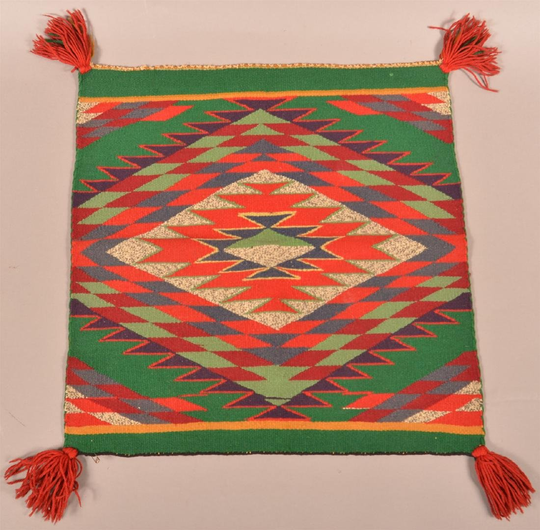 Vintage Mexican Woven Mat.
