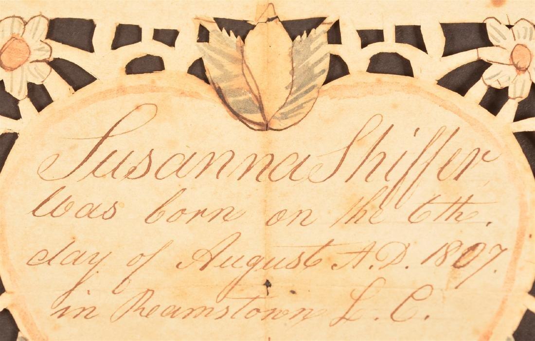 1807 Lancaster Co., Pa Scherenscnitte. - 2