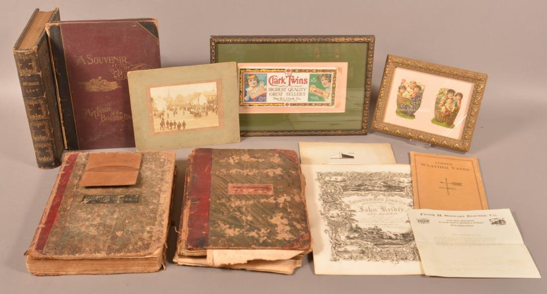 Lot of Antique Books and Paperwork.