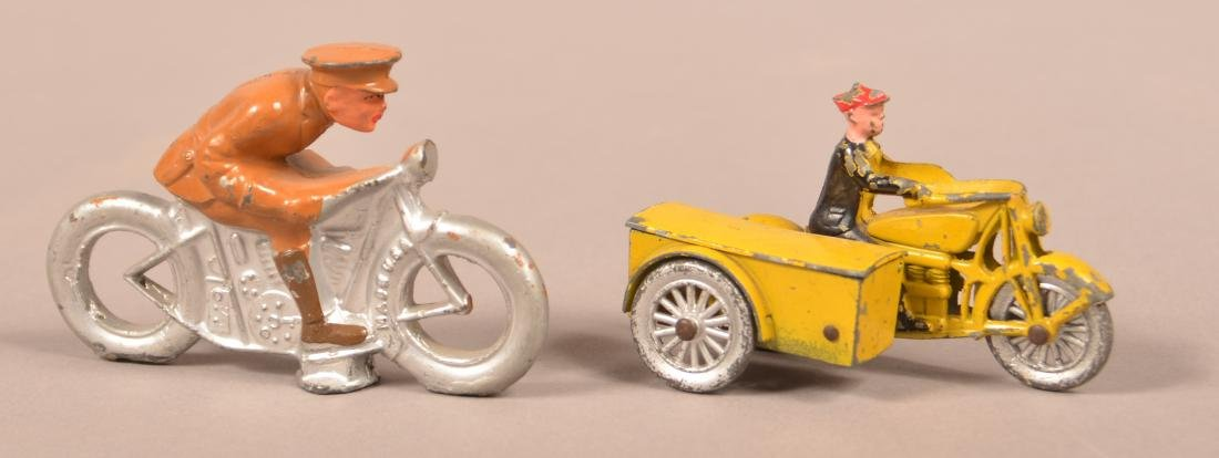 Tootsietoy and Barclay Motorcycles.