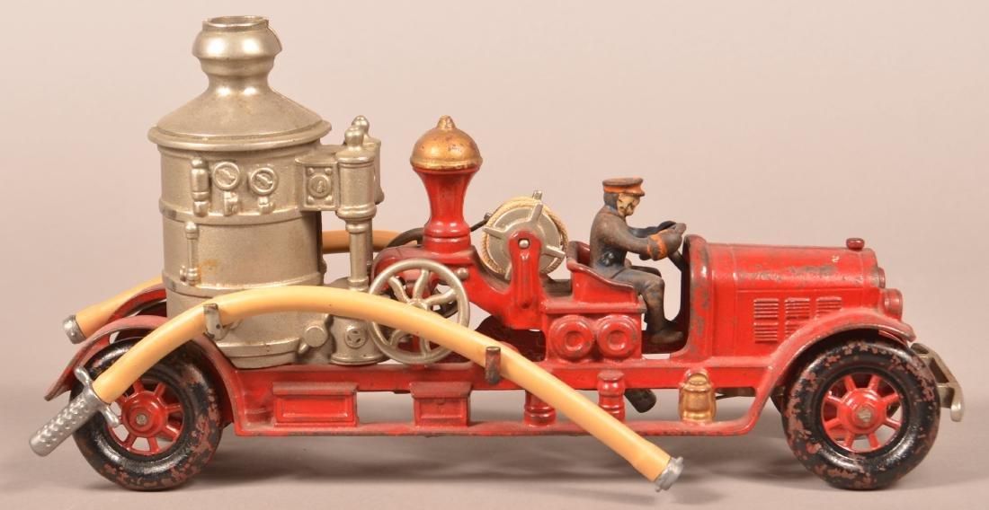 Large Scale Kenton Cast Iron Fire Pumper.