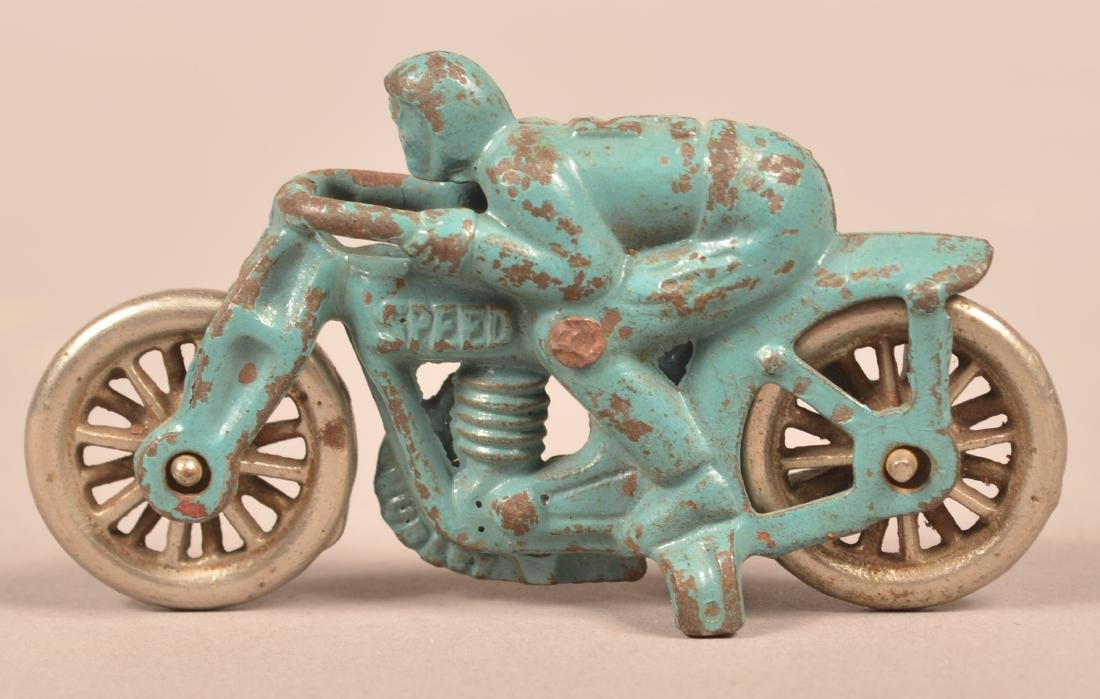 """Hubley Cast Iron """"Speed"""" No. 5 Motorcycle Racer."""