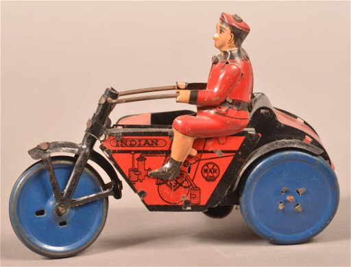 Marx Indian Motorcycle with Sidecar