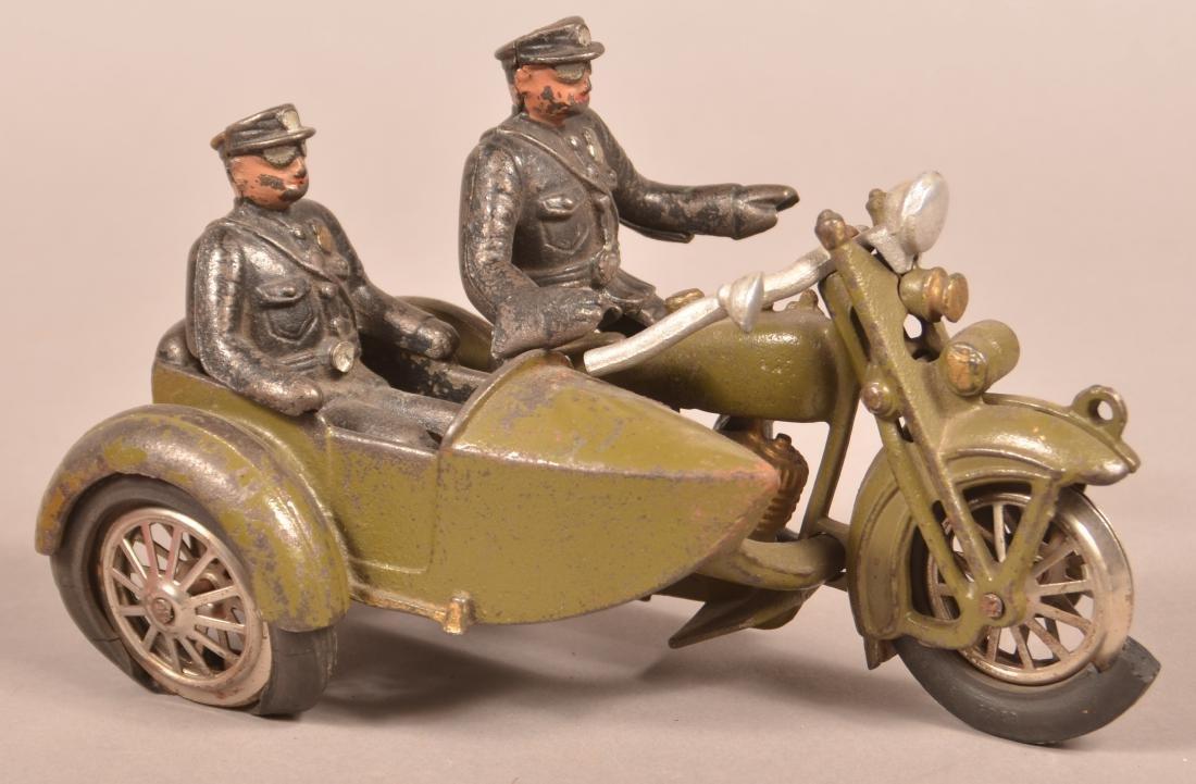 Hubley Harley Davidson Police Motorcycle. - 3