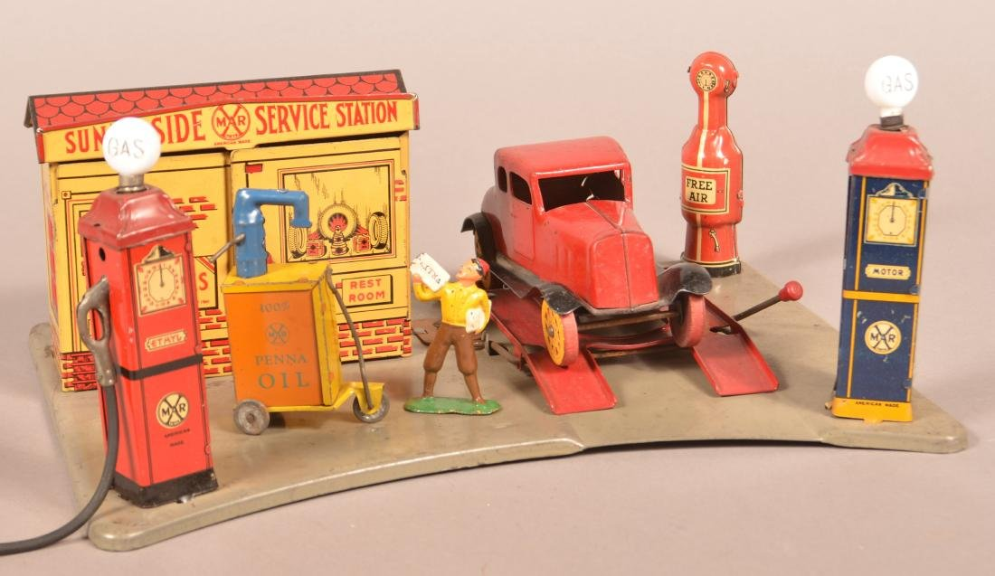 Marx Pressed Steel Sunny Side Service Station.