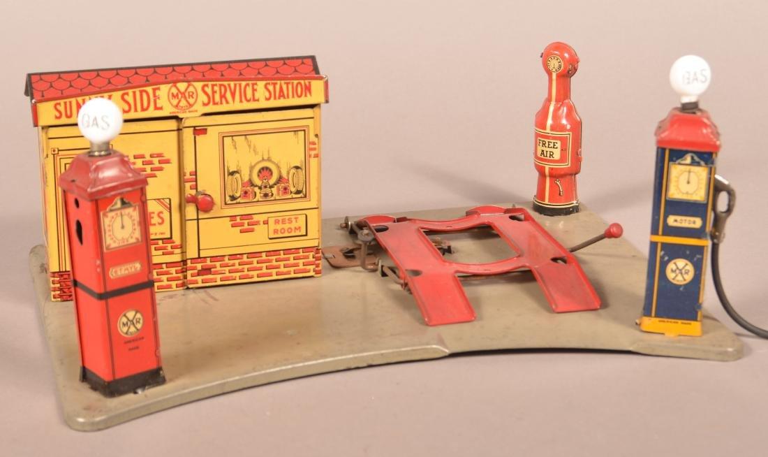 Marx Pressed Steel Sunny Side Service Station. - 2